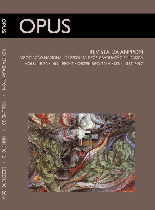 Capa da OPUS Volume 20, número 2. Dezembro 2014